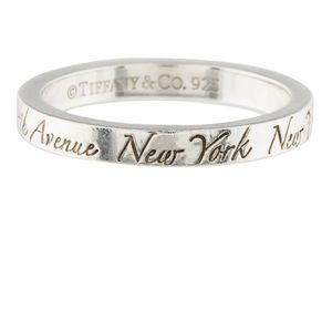 Tiffany's silver notes ring